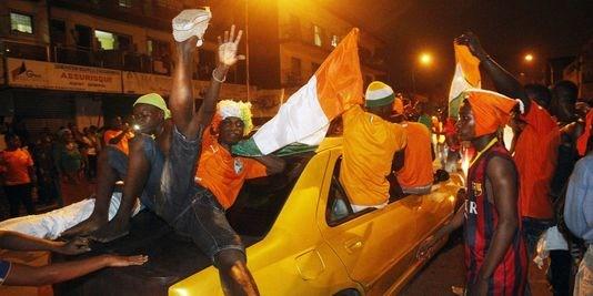 suporters ivoiriens après la victoire de la Côte d'Ivoire à la CAN 2015