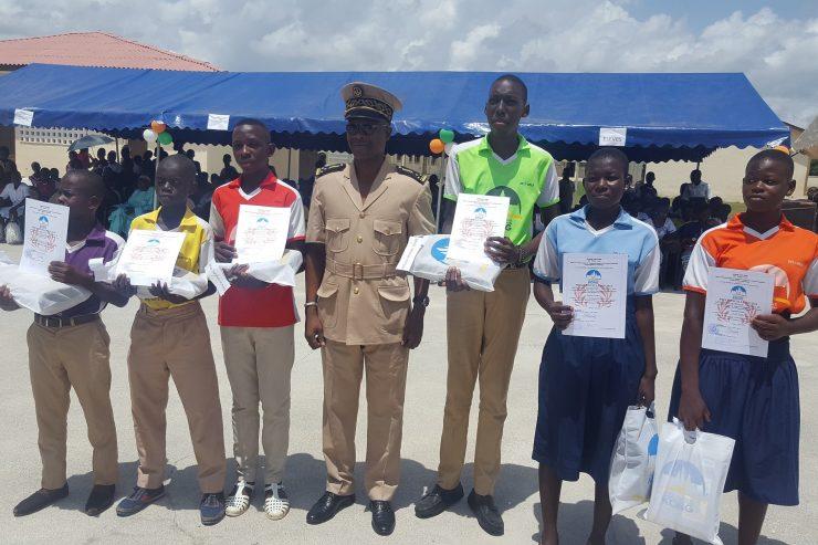 élèves primés à la célébration de l'excellence